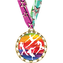 "Dance Medal - 2 1/2"" Sports Star Series Medal with 30"" Neck Ribbon"