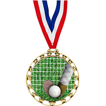 "2 1/2"" Sports Star Series Medal - Field Hockey - with 30"" Neck Ribbon"