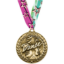 "Dance Medal - Large 2 3/4"" Achievement Wreath Medal with Ribbon"