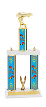 "15 1/2-17 1/2"" Three Column Pinewood Derby Trophy"