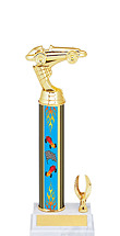 "8 1/2 - 10 1/2"" Pinewood Derby Trophy with 1 Eagle"