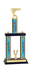 """15 1/2-17 1/2"""" Three Column Pinewood Derby Trophy"""
