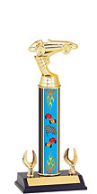 "9 1/2-11 1/2"" Pinewood Derby Trophy with 2 Eagles"