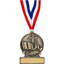 """2 3/4"""" Religious Cast Medal"""