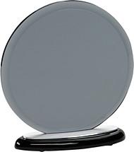 "7 1/2 x 8"" Round Gray Glass Award"