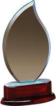 "5 x 9"" Glass Flame Award"