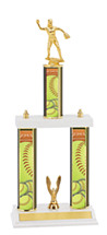"Softball Trophy - 18-20"" Three Column Trophy"