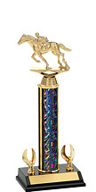 "12-14"" Dazzling Black Trophy - 2 Eagle Base"