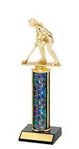 """10-12"""" Dazzling Black Round Column Trophy"""