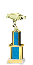 Holographi Blue Trophy with Twin Column - 12""