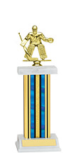 "12-14"" Blue Trophy with Rectangular Column"