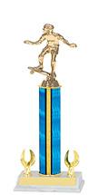 "12-14"" Blue Trophy with 2 Eagle Base"