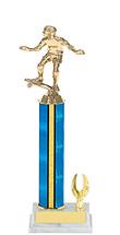 "11-13"" Blue Trophy with 1 Eagle Base"