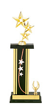 """13-15"""" Star Trophy with 1 Eagle Base"""