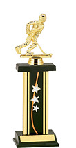 "12-14"" Rectangular Column Star Trophy"