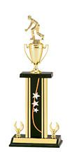 "19-21"" Rectangular Star Column Trophy & Cup"