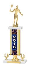 """16-18"""" 2016 Gold Dated Trophy - 2 Eagle Base"""