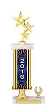 """15-17"""" 2016 Gold Dated Trophy - 1 Eagle Base"""