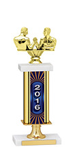 "14-16"" 2016 Gold Dated Trophy with Rectangular Column"