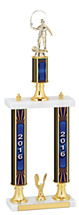 "20-22"" 2016 Double Column Dated Gold Trophy"