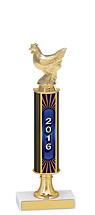 """12-14"""" 2016 Pedestal Riser Dated Gold Trophy"""
