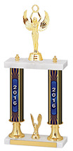"15-17"" 2016 Dated Gold Double Column Trophy"