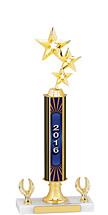 """14-16"""" 2016 Dated Gold Trophy - 2 Eagle Base"""