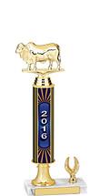 """13-15"""" 2016 1 Eagle Base Dated Gold Trophy"""