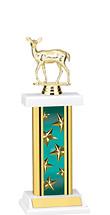 "12-14"" Rectangular Teal Star Trophy"