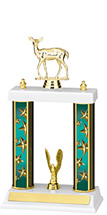 """13-15"""" Teal Star Trophy with Double Column Base"""