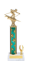 "11-13"" Teal Star Trophy with 1 Eagle Base"
