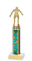 """10-12"""" Teal Star Trophy with Round Column"""