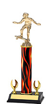 """12-14"""" Flame Trophy with 2 Eagle Base"""