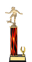 """11-13"""" Flame Trophy with 1 Eagle Base"""