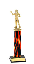 "10-12"" Flame Trophy with Round Column"