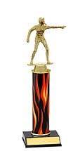 """10-12"""" Flame Trophy with Round Column"""