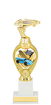 "12 3/4"" Large Pinewood Derby Triumph Riser Trophy"
