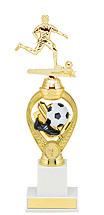 "Soccer Trophy - 12 3/4"" Large Soccer Triumph Riser Trophy"