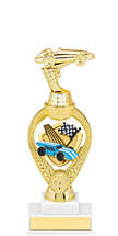"Derby Trophy - 11 1/2"" Medium Pinewood Derby Triumph Riser Trophy"