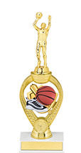 "Basketball Trophy - 10 3/4"" Small Basketball Triumph Riser Trophy"