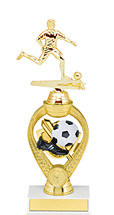 "Soccer Trophy - 10 3/4"" Small Soccer Triumph Riser Trophy"