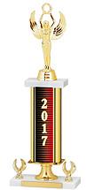 """2017 Gold Dated Trophy - 2 Eagle Base - 16-18"""""""