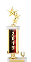 """2017 Gold Dated Trophy - 1 Eagle Base - 15-17"""""""
