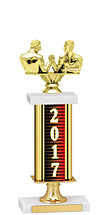 """2017 Gold Dated Trophy with Rectangular Column - 14-16"""""""