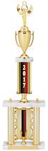 "2017 Backdrop Riser Dated Gold Trophy - 29-31"""