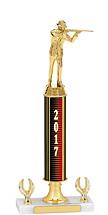 """14-16"""" 2017 Dated Gold Trophy - 2 Eagle Base"""