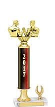 """13-15"""" 2017 1 Eagle Base Dated Gold Trophy"""