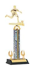 "12-14"" Holographic Silver Trophy - 2 Eagle Base"