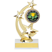 "8 1/2"" Holographic Spinning Star Trophy"