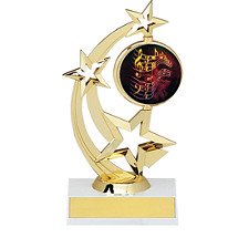 """8 1/2"""" Holographic Spinning Star Trophy"""